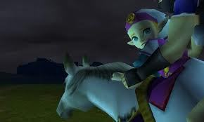 In Ocarina of Time, how does Zelda escape from Ganondorf?
