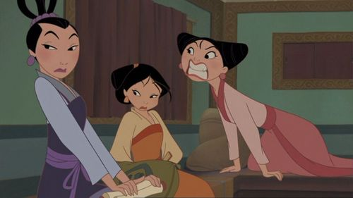 Who are the 3 princesses in Mulan 2 that she has to guard?