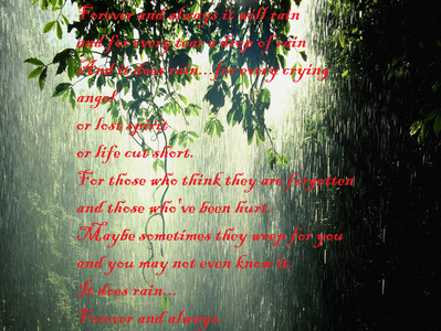 "what inspired the poem ""It Does Rain""?"