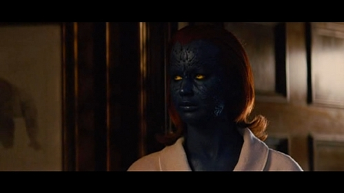 X-Men: First Class - Did Charles Xavier wanted to tarehe Raven in her real blue form?