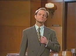 S3:Crane v Crane: Frasier stays in listens to Niles entire speech in the courtroom afterwards?