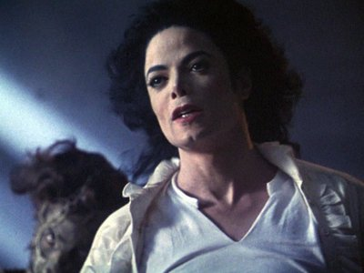 "Which secretly Girlfriend of Michael played in his Movie ""Ghosts"" one of the Townpeople?"