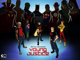 What month does the first Young Justice videogame come out?