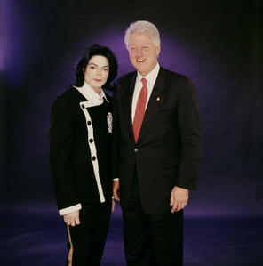 Who is this former U.S. President with Michael Jackson