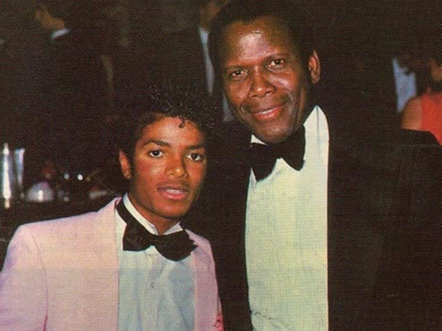 Who is this legendary film actor with Michael Jackson