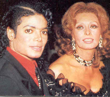 Who is this beautiful legendary Italian-bron film actress with Michael Jackson