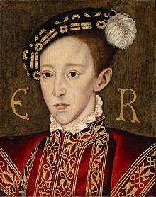 When was Edward Tudor's coronation?