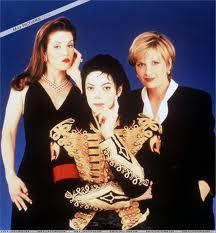 Who is this journalist with Michael and Lisa Marie
