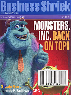 How does Mike Wazowski react to the Magazine Cover?
