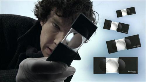 What is the name of Sherlock's website (mentioned in Study of Pink)?