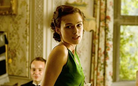 Who plays as Cecilia Tallis in Atonement?