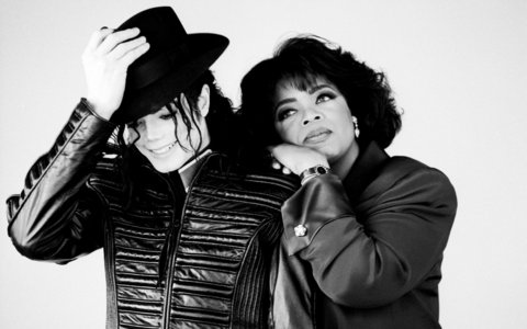 Who is this journalist with Michael Jackson