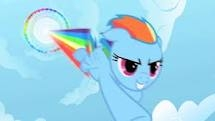 How many times has Rainbow dash done the Sonic Rainboom?