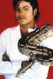 What is the name of Michael Jackson's pet snake which is a باؤ constrictor? (in this picture)