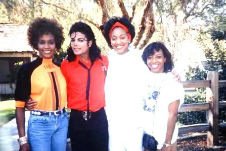 Where was this 사진 taken of Michael and Whitney Houston