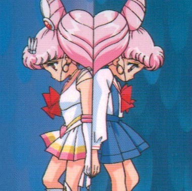 Who chibiusa met in sailormoon supers?
