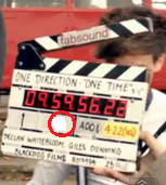 "In the Film Slate of the video ""One thing"", Which number is Louis?"