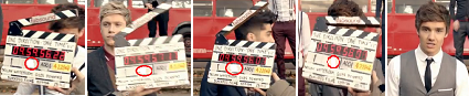 "Which number should been written in Liam's Film Slate of the video ""One thing""?"