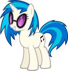 What color is Vinyl Scratch's eyes?