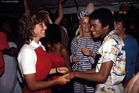 Who is this young lady in the photograph with Michael Jackson