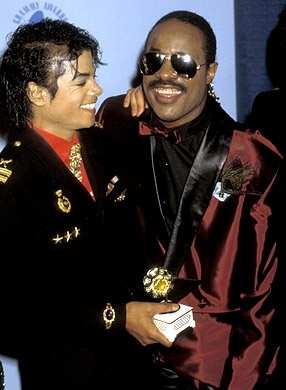 Michael has recorded two duets with good friend, Stevie Wonder