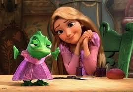 What is Rapunzel's green friend's name?