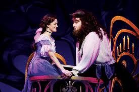 In which TV montrer do we hear about a play of Beauty and The Beast?