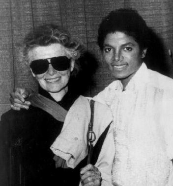 Who is the ledegendary film actress in the photograph with Michael