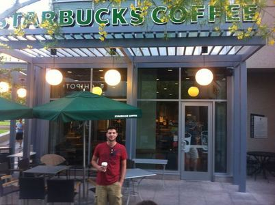 what is colm's favorite drink at starbucks?
