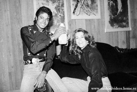 Who is this legendary actress in the photograph with Michael