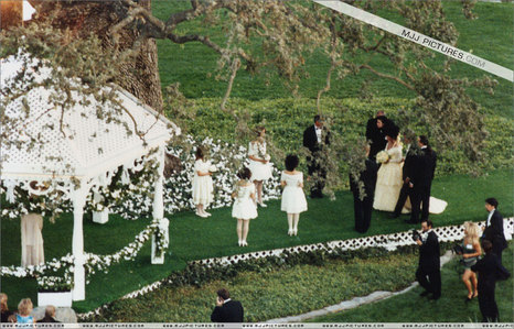 Good friend, Dame Elizabeth Taylor's wedding was held at Neverland Ranch on October 8, 1991