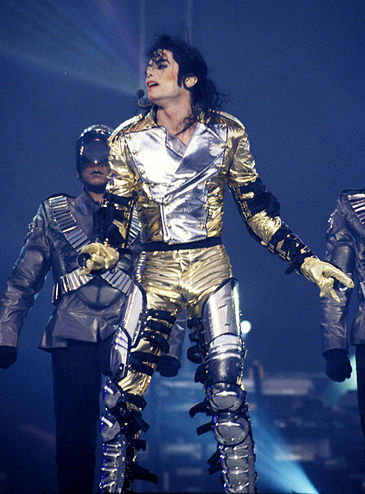 "Michael's Gold outfit, which he wore on his ""History"" tour, was custom made Von fashion designer, Versace"
