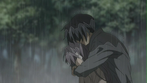 who is in tomoya's arms? :D