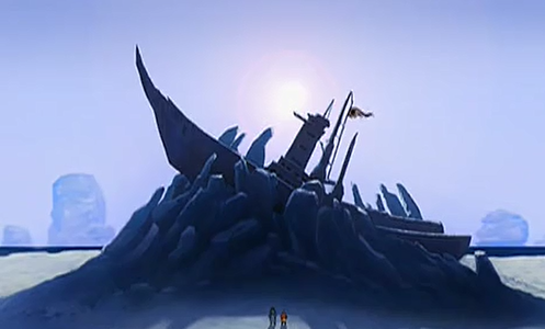 Which line does Aang use ,to make Katara enter the ship?