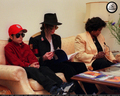 Who is this young boy in the photograph with Michael and his mother, Katherine