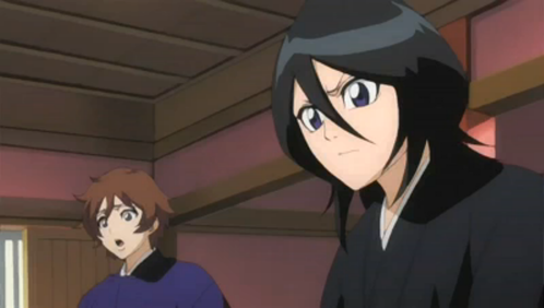 Who is with Rukia?