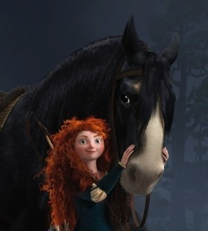 What is Merida's horse called?