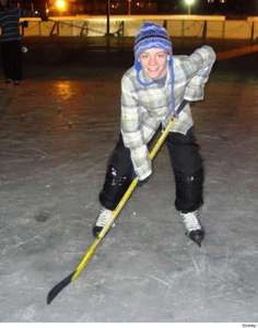 On Ross's 15th Birthday he played hockey with who?