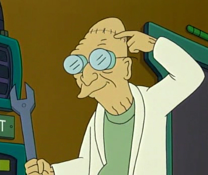 The easy part for the parallel copy of Professor Farnsworth during the experiment of removing his brain was: getting the brain out. But what did he say the hard part was?