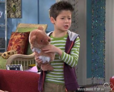In Shake It Up (tv series), What is Flynn's teddy bear's name ?