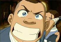 What sentence did sokka said on this picture?