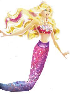 Merliah is wearing whose mermaid tale?