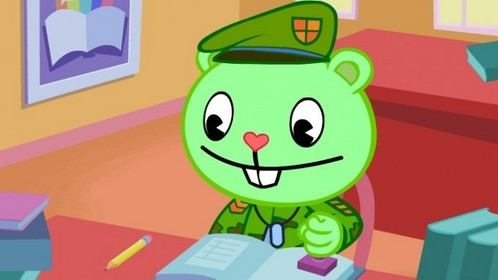 "Who made Flippy flip out in the episode ""Random Acts of Silence""?"