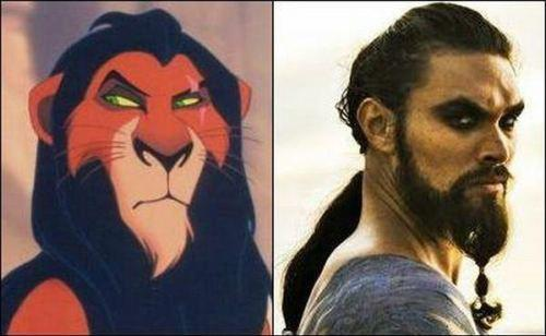 Funny look alike : the first character is Scar in the other one is _______ ?