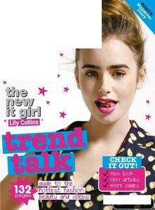 What magazine is Lily on in this cover?