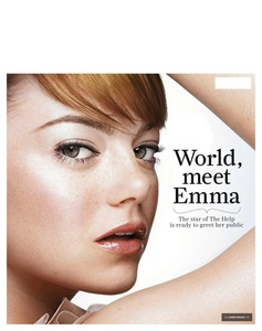 What magazine is Emma on in this cover?