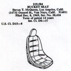 Did Steve McQueen design and patent a race car seat?