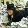 Me being MJ and having fun in the newspaper stash XD mjkingofpop1 photo