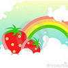 my 2 fav things strawberrys and rainbows XD w99w99w photo