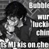 Bubbles gets a MJ kiss on the cheek! Vespera photo